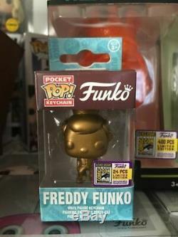 Funko Pop Keychain! Freddy Funko (gold) Sdcc Edition Limitée 24 Pièces