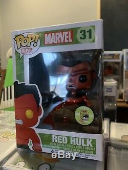 Funko Pop Metallic Red Hulk # 31 Sdcc 2013 Limited Edition 480 Pièces