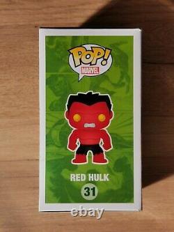 Funko Pop Metallic Red Hulk #31 Sdcc 2013 Limited Edition 480 Pièces Damaged