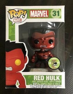 Funko Pop Métallisé Rouge Hulk 31 Sdcc 2013 Edition Limitée 480 Pièces Non Menthe