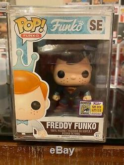 Funko Pop Vinyle Freddy Funko Superman Sdcc Ltd 525 Pièces Rare Htf