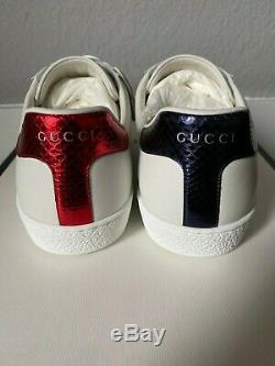Gucci Ace Avec Ufo Et Dragons Patch Sneaker En Cuir Taille 10.5