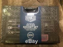 Halfords Advanced 200 Piece Socket Ratchet Set Édition Limitée Black Tools Nouveau