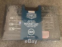 Halfords Black Edition Avancée Ltd 200 Piece Socket Ratchet Spanner Tool Set