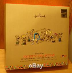 Hallmark 2015 Arachides Ensemble De 10 Pièces Nativity Limited Edition Voir Description
