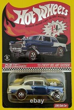 Hot Wheels Rlc 2016'55 Chevy Bel Air Gasser Avec Patch Et Bouton