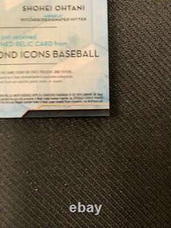 Icônes De Diamant De 2020 Topps Mike Trout Shohei Ohtani Dual Patch Auto #7/10 Angels