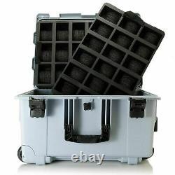 Invicta Grey 50 Cas De Fente Imperméable Shockproof Patch Multi Color Ltd Ed Suitcas