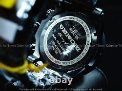 Invicta Reserve 54mm Venom Triple Black Label Swiss Chrono Avec Montre Bande 3 Pièces