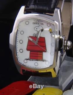 Invicta Snoopy Grand-lupah Limited Edition Quartz Avec Cuir 5 Pièces Bracelet