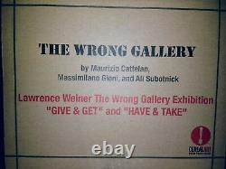 Lawrence Weiner'wrong Gallery' Ny Rare 2-piece Brass Stencils, Publié 2005