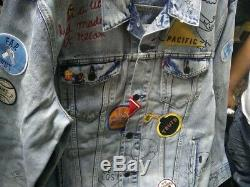 Levi's Limited Edition Patch Graffiti Trucker Jacket Taille L Californie Nwt 400 $