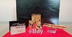 Limited Edition S. T. Dupont Afrika 5 Pièces Briquet Et Stylo # 7/100