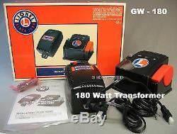 Lionel 180 Watt 2 Piece Bloc D'alimentation Câble Du Transformateur D'alimentation Détecte Gw-180 6-37947