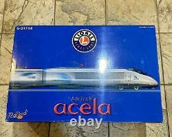 Lionel 6-31714 Amtrak Acela Full 5 Pièces Ensemble De Train W Rail Sounds 5.0 Nib Nouveau