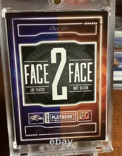 Livret 2016 Joe Flacco Andy Dalton Face À Face 1/1 1 De 1 Logo Tag Patch