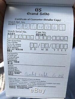 Lnib Grand Seiko Elegance Sbgw049 Edition Limitée De 200 Pièces
