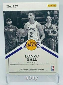 Lonzo Ball 2017-18 Pierres Angulaires Sur Carte Rookie Patch Auto /199 Rpa #152