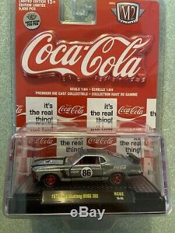 M2 Coca Cola 1970 Ford Mustang Boss 302 Rc02 18-55 Raw Chase 250 Pièces Vhtf