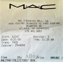 Mac Cosmetics Aaliyah Complète 12 Pièces Vault Collection Maquillage De Nib Accusé De Réception