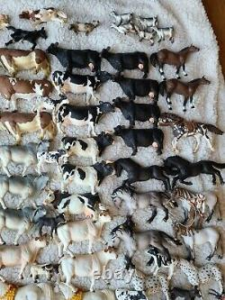 Massive Lot Schleich, Safari Ltd, Etc Figurine Animale 194 Pièces 30lbs