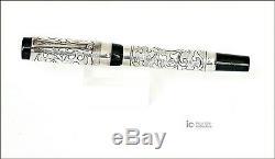 Michael Fultz Pour Parker Limited Edition Silver Fountain Pen / 500 Pièces