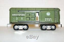 Mintish Rare Moderne Marx Us Army Train Avec Les Conseils Spéciaux Sign -9 Set Piece