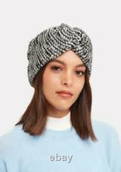Missoni Hiver Chaud Noir Et Blanc Tricot Élégant Turban! Pièce D'échauffement Confortable