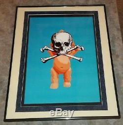 Mort Nyc Ltd Ed Missing Exemplaire Signé Coa Art Print 16x20 Bébé Crâne Nfs Encadrée