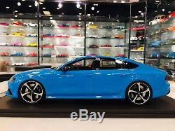 Motorhelix 1/18 Audi Rs7 Licence Bleu Bébé Sans Maquillage Bbr Mr Dernière Pièce