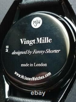 Mr Jones Montres Vingt Mille Piece Unique En Couleur Noire Ultra Rare Mjw