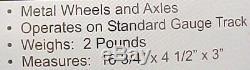 Mth 10-1175 Standard Gauge Ives Transition 4 Pièces De Voitures De Tourisme Set Ln / Box