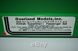 N Brass Overland 2837,1 Amtrak Superliner II De Voitures De Tourisme De 9 Morceaux J10975