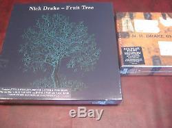 Nick Drake Fruit Tree 3 Lp Boxset & DVD Limité À 2000 Pièces + Boîte À Cacheter 5 Cds