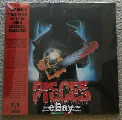 Nouveau! Pieces (1983) Arrow Limited Edition Blu-ray Coffret Vinyle Soundtrack Jigsaw