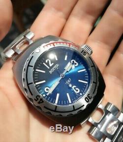 Nouveau Vostok Amphibia 1967 Blue Diver Watch Édition Limitée 500 Pièces