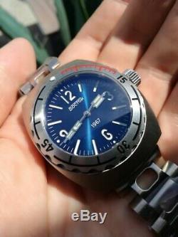 Nouvelle Montre De Plongée Vostok Amphibia 1967 À Cadran Bleu, Édition Limitée À 500 Pièces