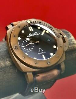 O3 Montres Bronze Trident 47mm Bronzo Limited Edition 100 Pièces Automatique