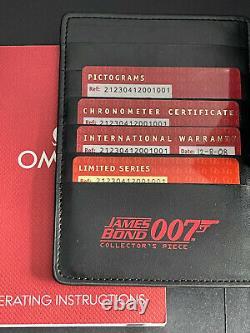 Omega Seamaster 300m 007 James Bond Pièce Collectrice En Carton / Papiers / 2008