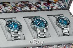 Oris Ocean Trilogy Blue Whale, Great Barrier 3 & Clean Ltd Edt 200 Pieces Nouveau