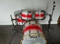 Pearl Reference, Limited Edition 4 Piece Drum Kit Rouge Au Blanc Perle Fade