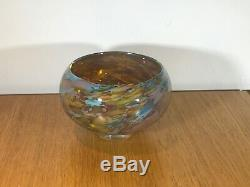 Peter Layton British Glass Art Signé Motif Reef Du Soleil. Piece Glorieux