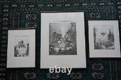 Philippe Mohlitz Gravure Lot De Gravure De 3x Les Grandes Desordre Rare Art Pieces