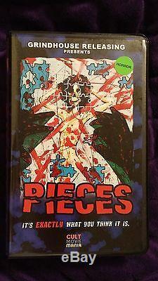 Pieces Vhs 4 Sur 25 Couverture Cult Limitée Grindhouse Avec Puzzle Bonus