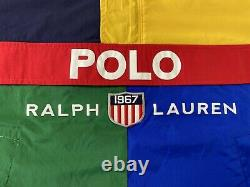 Polo Ralph Lauren 1967 Shield Patch Colorblock Anorak Windbreaker Veste Hommes M