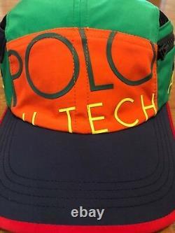 Polo Ralph Lauren Hi Tech Side Pocket Limited Edition Flag 5 Panneau S/m Patch Hat
