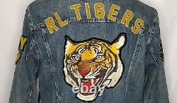 Polo Ralph Lauren Hommes Varsity Tigres Football Letterman Patch Denim Veste XL