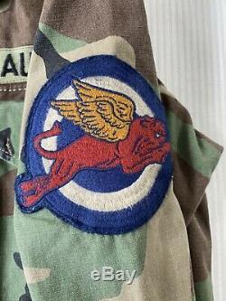 Polo Ralph Lauren M-65 Drapeau De Camouflage Militaire États-unis Skull Patch Jacket L Champ