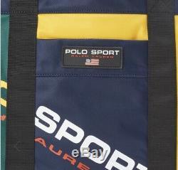 Polo Ralph Lauren Sport Sac Fourre-tout En Nylon Color Block Épel Limited Edition Nwt