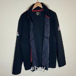 Polo Ralph Lauren Veste Homme XL P Racing 1992 Patch Alpine Fleece Zip 298 $